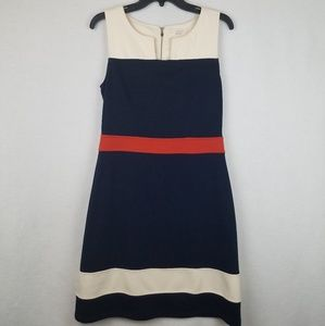 41 Hawthorn Color Block Sheath Dress Sleeveless